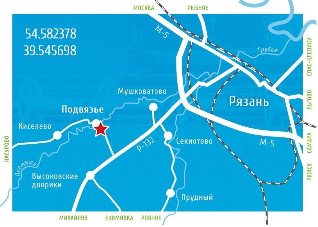 Схема проезда день Рязанского поля