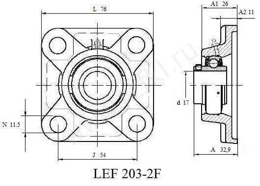 LEF 203-2F (FKL)  Эскиз