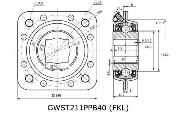 GWST 211PPB40 (FKL) Эскиз